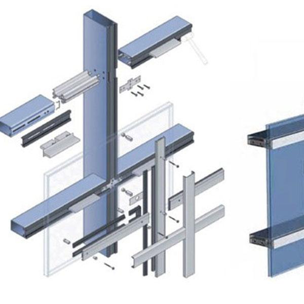 تفاوت نمای شیشه ای کرتین وال و نمای فریم لس آهنی